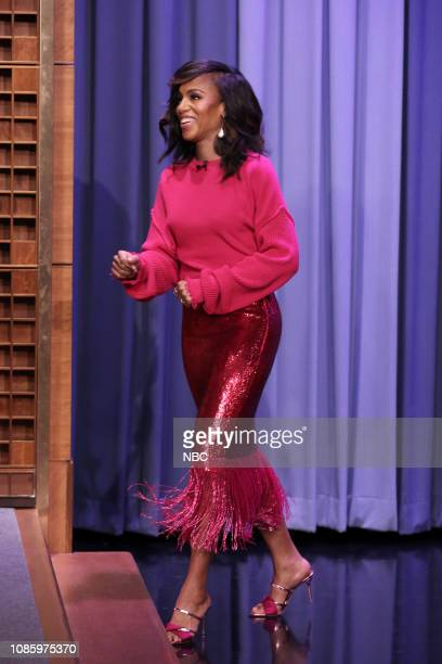 Actress Kerry Washington arrives to the show on January 21 2019