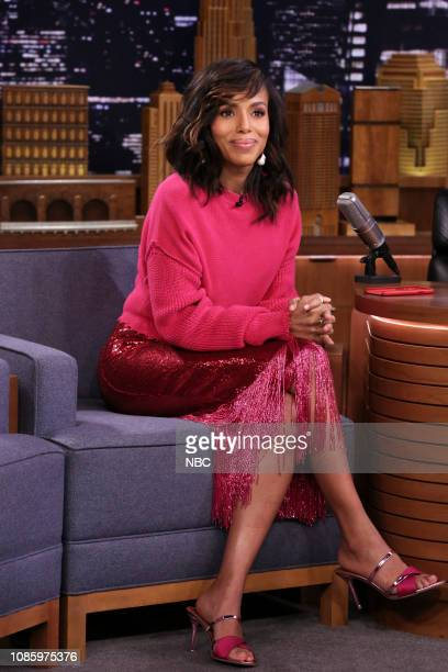 Episode 998 -- Pictured: Actress Kerry Washington during an interview on January 21, 2019 --