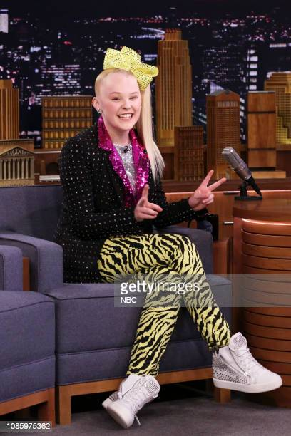 Dancer JoJo Siwa during an interview on January 21 2019