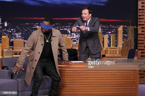 Actor Lil Rel Howery arrives to his interview with host Jimmy Fallon on January 22 2019
