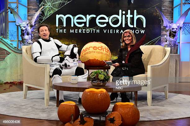 Episode AJ042 -- Pictured: Jamie Oliver, Meredith Vieira --