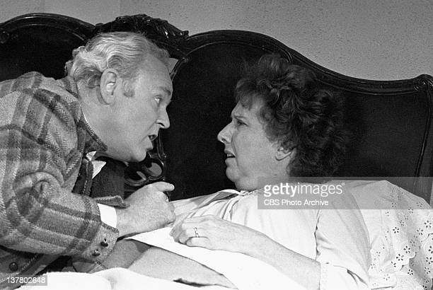 Episode, 'Archie Gets the Business, Part I' featuring Carroll O'Connor as Archie Bunker and Jean Stapleton as Edith Bunker. Image dated August 5,...