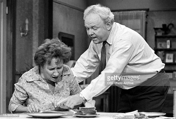 Episode, 'Archie Gets the Business, Part I' featuring Jean Stapleton as Edith Bunker and Carroll O'Connor as Archie Bunker. Image dated August 5,...