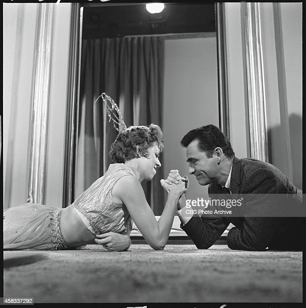 'Cavender Is Coming' featuring Carol Burnett as Agnes Grep In an off camera moment Rod Serling arm wrestles with CarolOriginal airdate May 25 1962...