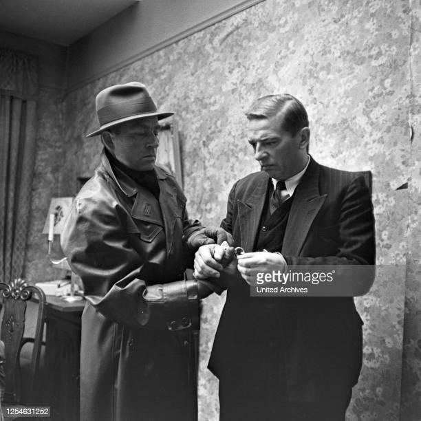 """Episode """"Der Fall Nebe"""" aus der ZDF Fernsehserie """"Das Kriminalgericht"""", Deutschland 1964, Regie: Georg Tressler, Szenenfoto."""