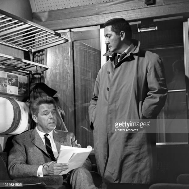 Episode Des Rätsels Lösung aus der Krimiserie Intercontinetal Express Deutschland 1966 Regie Frank Winterstein Darsteller Robert Graf Heinz Drache
