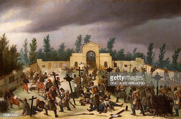 Episode from the Battle of Solferino June 24 1859 Second War of Independence Italy 19th century