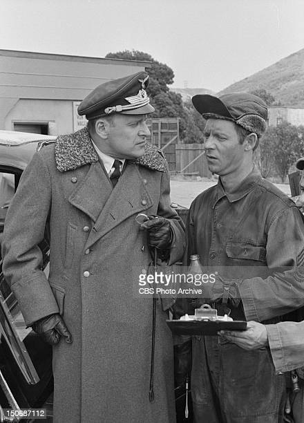 'Hogan's Trucking Service We Bring The Factory To You' From left Werner Klemperer as Col Wilhelm Klink and Larry Hovis as Sgt Andrew Carter