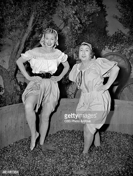 Lucy's Italian Movie Featuring Lucille Ball as Lucy Ricardo and Teresa Tirelli as Wine Stomper Image dated March 20 1956