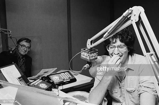 Actor/TV personality Steve Allen radio DJ Howard Stern in 1983