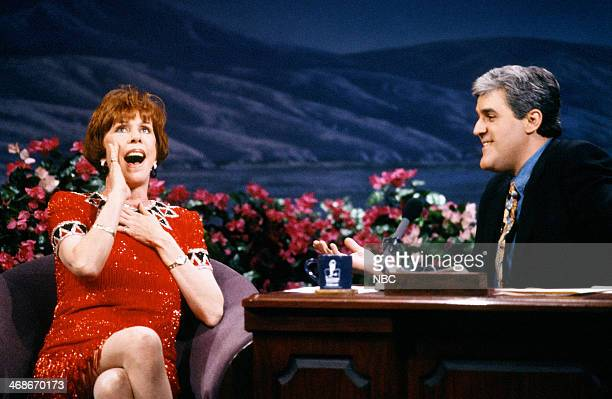 Actress Carol Burrnett during an interview with host Jay Leno on January 8 1993