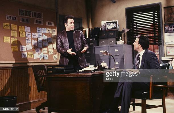 Andrew Dice Clay Kevin Nealon as client during Diceman Employment Agency skit on May 12 1990 Photo by Alan Singer/NBCU Photo Bank
