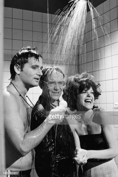 Bill Murray as Richard Herkiman Buck Henry as Richard Calarski Gilda Radner as Jane Herkiman during Shower Mike skit on May 21 1977 Photo by NBCU...