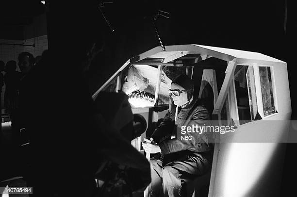 Buck Henry as Charles Lindbergh during 'Lucky Lindy' skit on May 21 1977 Photo by NBCU Photo Bank