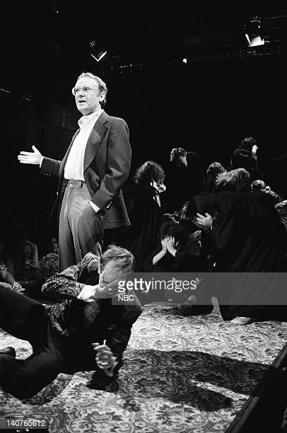 Buck Henry during Mormon Tabernacle Choir skit on May 21 1977 Photo by NBCU Photo Bank