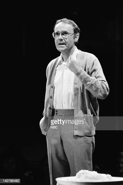 Buck Henry during the monologue on May 21 1977 Photo by NBCU Photo Bank