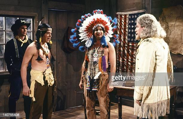 Dennis Miller as sergeant Matthew Broderick as Little Hawk Jon Lovitz as Jackie Jarvis Phil Hartman as General Custer during the 'Hollywood Salute'...