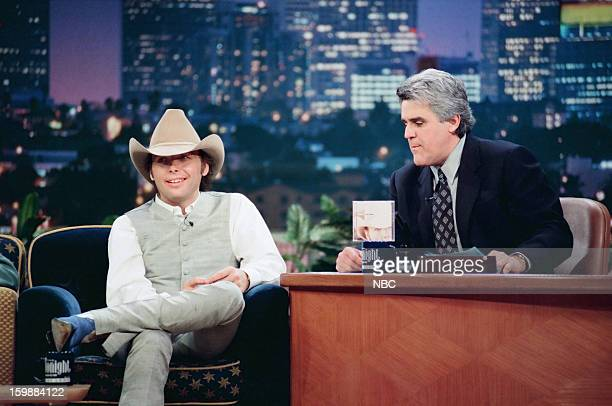 Dwight Yoakam host Jay Leno during an interview on June 21 1998