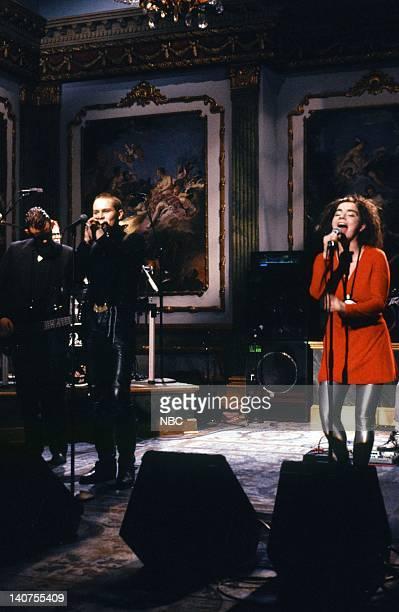 Einar Benediktsson Björk Musical guest The Sugarcubes perform on October 15 1988 Photo by NBC/NBCU Photo Bank