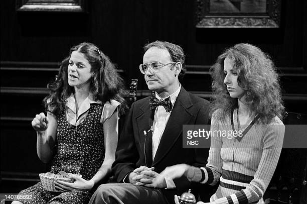 Gilda Radner as Francine Buck Henry as Dr Richard Dalton Laraine Newman as assistant during How Your Children Grow skit on May 21 1977 Photo by NBCU...