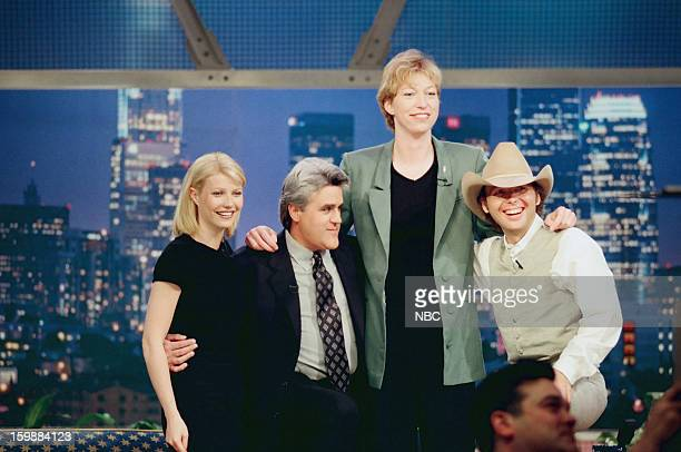 Gwyneth Paltrow Jay Leno Margo Dydek Dwight Yoakam on June 21 1998