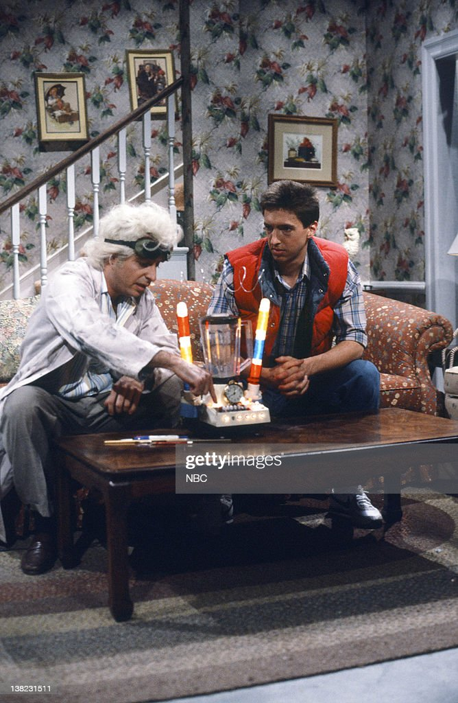 Jon Lovitz as Dr. Brown, Ron Reagan during the 'Back To The Future' skit on February 8, 1986