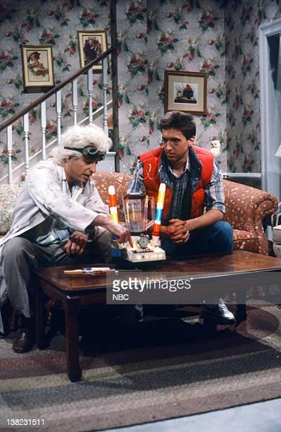 Jon Lovitz as Dr Brown Ron Reagan during the 'Back To The Future' skit on February 8 1986