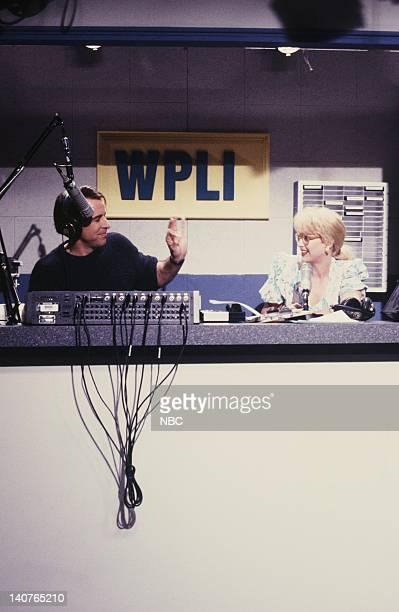 Kevin Nealon as Tony Trailer Victoria Jackson as Pamela Wyatt during WPLI skit on May 12 1990 Photo by Alan Singer/NBCU Photo Bank