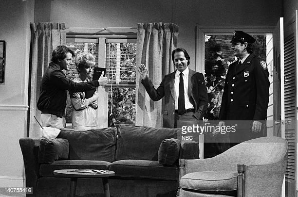 Matthew Broderick as Dwayne Thumper Jan Hooks as Mrs Thumper Jon Lovitz as principal during 'The Thumper Family' skit on October 15 1988 Photo by...