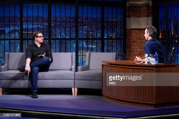 Episode -- Pictured: MSNBC's Chris Hayes during an interview with host Seth Meyers on January 20, 2021 --