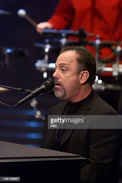 Episode -- Pictured: Musical guest Billy Joel performs on February, 7 2001 --