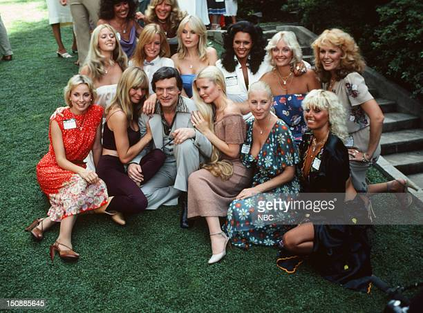Playboy Playmates Cyndi Wood Monique St Pierre Playboy founder Hugh Hefner Playboy Playmates Debra Jo Fondren Liv Lindeland Linda Gamble Playboy...