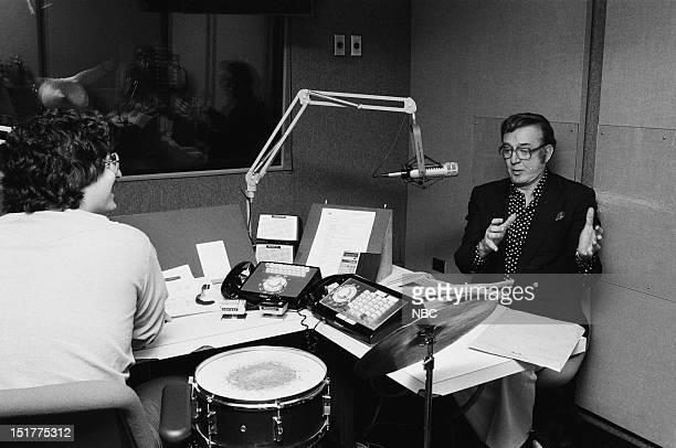 Radio DJ Howard Stern actor/tv personality Steve Allen in 1983