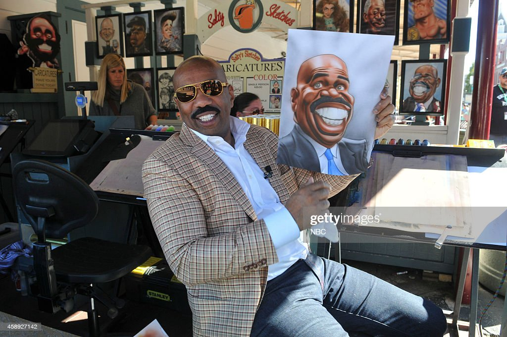 Steve Harvey at Universal Orlando with park guests --