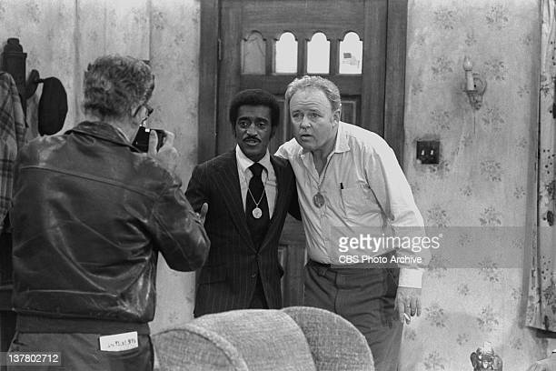 Episode 'Sammy's Visit' featuring Carroll O'Connor as Archie Bunker and Sammy Davis Jr. . Negative dated January 25, 1972. Broadcast on CBS February...