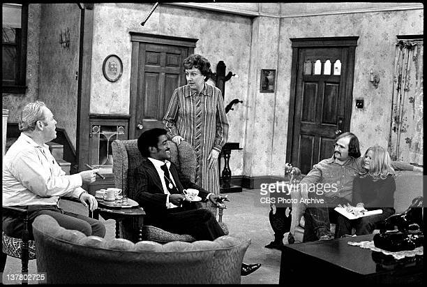 Episode 'Sammy's Visit' featuring Carroll O'Connor as Archie Bunker and Sammy Davis Jr. , Jean Stapleton as Edith B., Rob Reiner as Mike Stivic and...