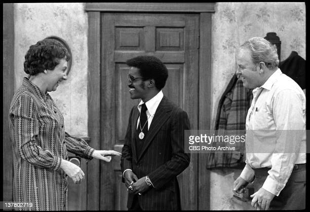 Episode 'Sammy's Visit' featuring Jean Stapleton as Edith Bunker , Sammy Davis Jr. And Carroll O'Connor as Archie Bunker. Negative dated January 25,...