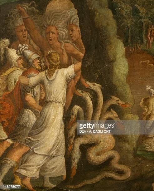 Episode taken from Aeneid fresco detail Italy 17th Century Modena Galleria Estense Palazzo Dei Musei
