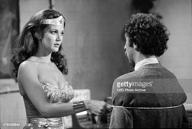 WOMAN episode 'The Deadly Sting' featuring Lynda Carter using her lasso on a villain Image dated January 18 1978