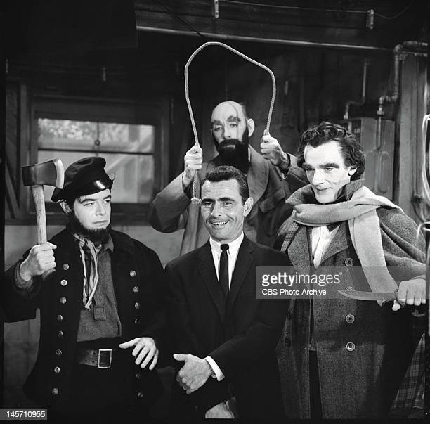 The New Exhibit with Bob Mitchell as wax figure depicting murderer Albert W Hicks Milton Parsons as wax figure Henri Desire Landru and David Bond as...