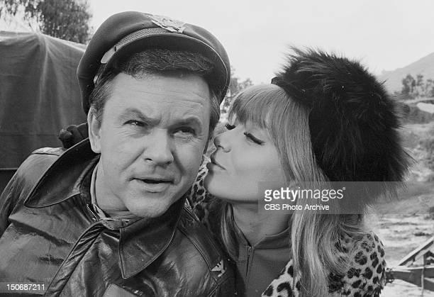 The Witness from left Bob Crane as Col Robert E Hogan and Nita Talbot as Marya Image dated January 16 1969