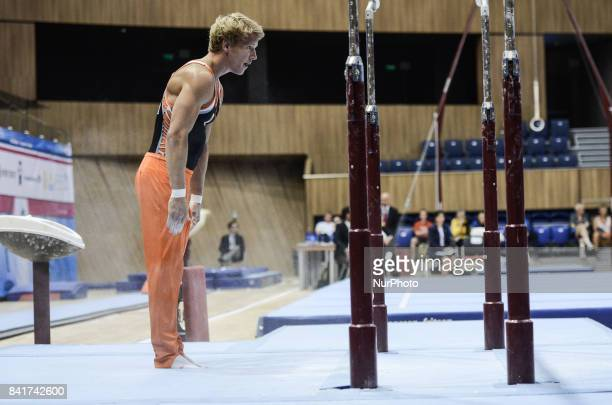 Epke Zonderland Netherland performs during the Varna FIG World Challenge Cup artistic gymnastics Varna BulgariaFIG World Challenge Cup artistic...