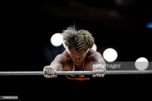 Epke Zonderland of Netherlands during High Bar at the Aspire Dome in Doha Qatar Artistic FIG Gymnastics World Championships on 3 of November 2018
