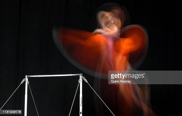 Epke Zonderland of the Netherlands competes on the High Bar during the Gymnastics World Cup on February 22 2019 in Melbourne Australia