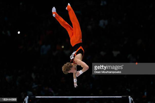 Epke Zonderland of the Netherlands in action during the Horizontal Bar Final on Day Seven of the Artistic Gymnastics World Championships Belgium 2013...