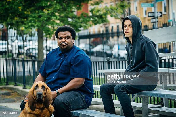 MR ROBOT 'eps20_unm4sk%u2010pt2tc' Episode 202 Pictured Craig Robinson as Ray Rami Malek as Eliot Alderson