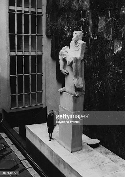 Epstein Statue At London Headquarters Of Trades Union Congress In United Kingdom On 1958