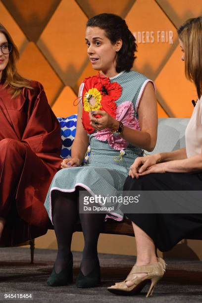 Epytom founder and CEO Anastasia Sartan speaks onstage during Vanity Fair's Founders Fair at Spring Studios on April 12 2018 in New York City