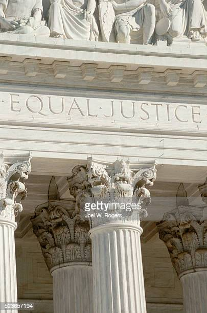 """""""Equal Justice"""" on the Supreme Court Building"""