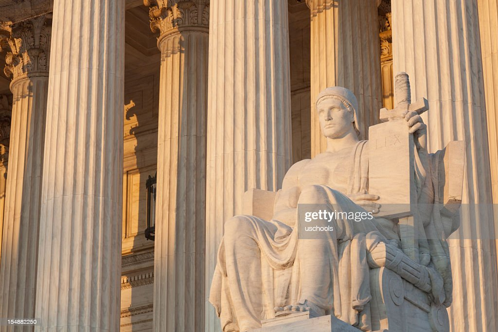 """""""Equal Justice Under Law,"""" US Supreme Court : Stock Photo"""